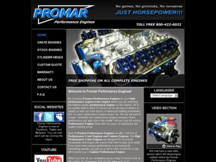 Cached version of Promar Performance Engines