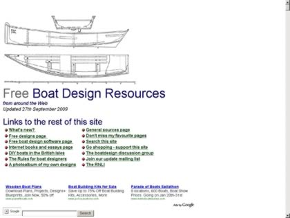 Cached version of Free boat design resources from around the Web
