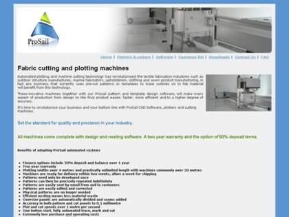 Cached version of ProSail Sail design software, Plotter/Cutters
