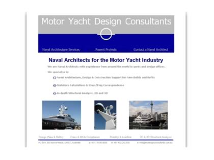 Cached version of Motor Yacht Design Consultants