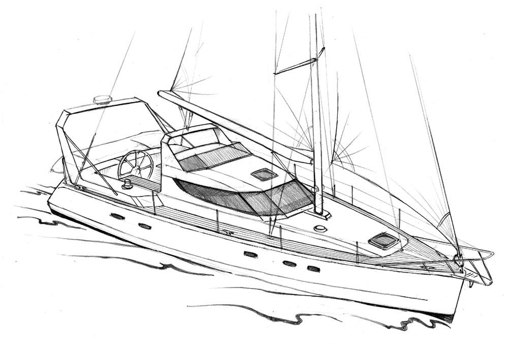 Картинки как рисовать яхту