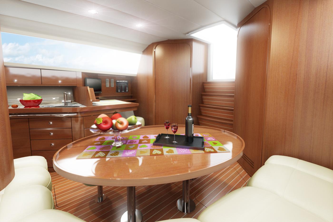 40 Feet Sailboat Interior