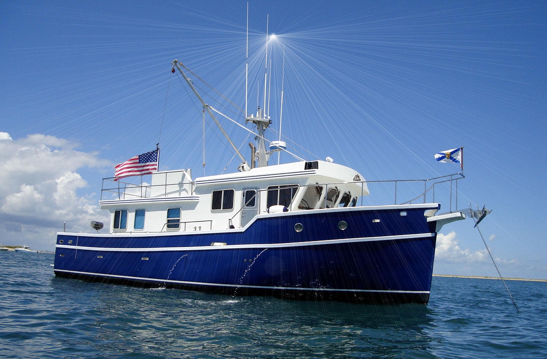 APPLE ISLAND 45 Trawler Yacht    www appleislandmarine com
