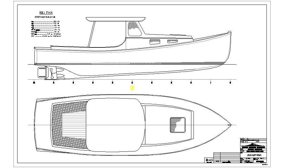 Small lobster/downeast skiff hull