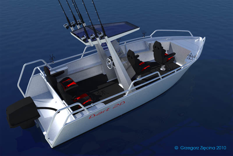Dart 20  All Aluminium Fishing Boat Design