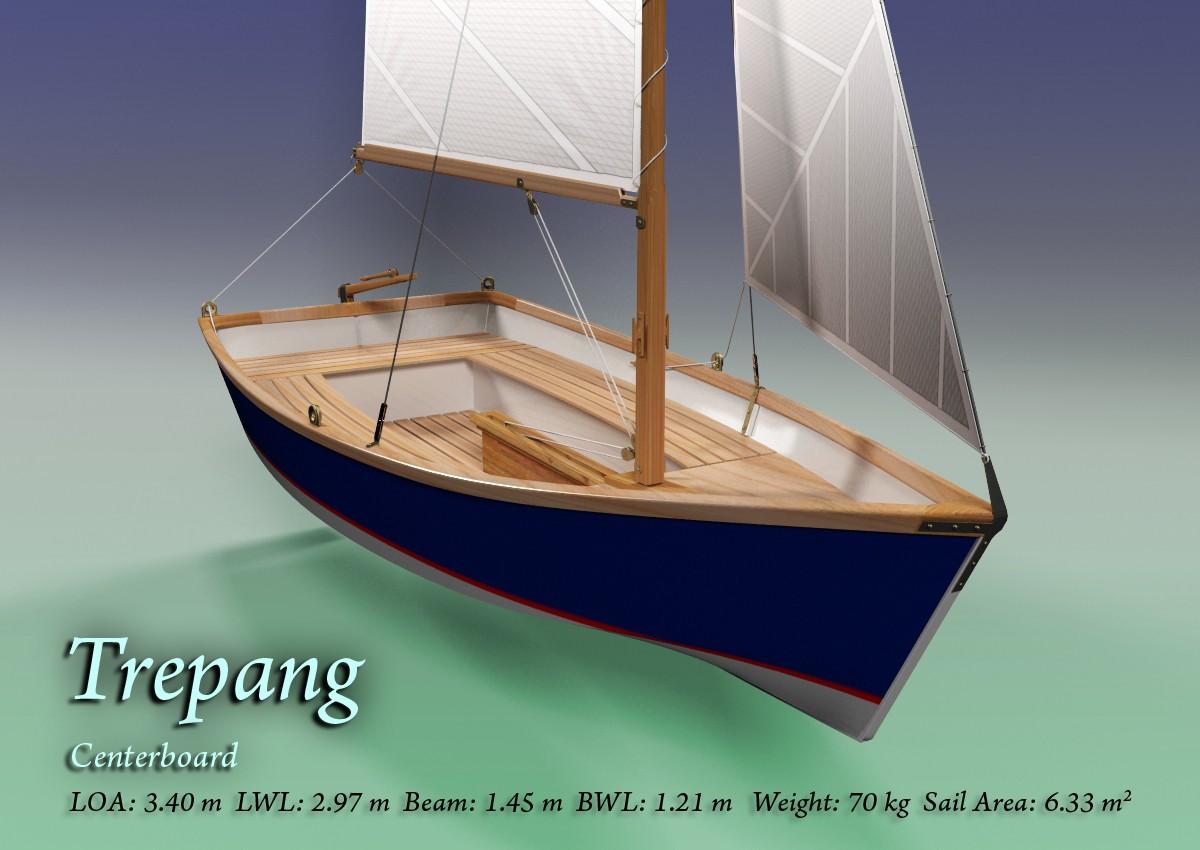 Sailboat with centerboard 11 2 ft gaff rigged | Boat Design Net