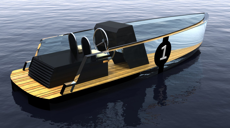 Steelfish Marine Design    Modern Glass Tender Powerboat