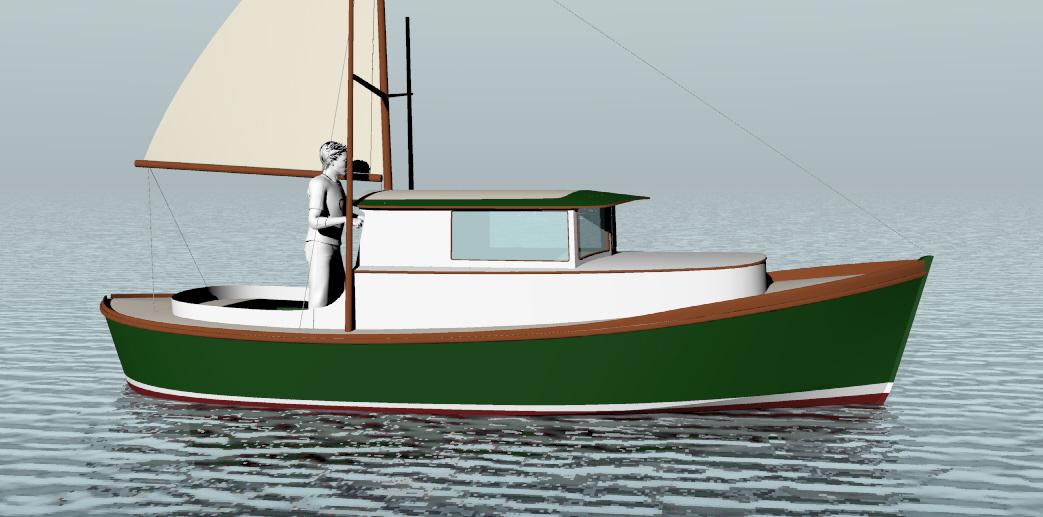 Timbercoast troller by bartender boats boat design net for Garden design troller boat