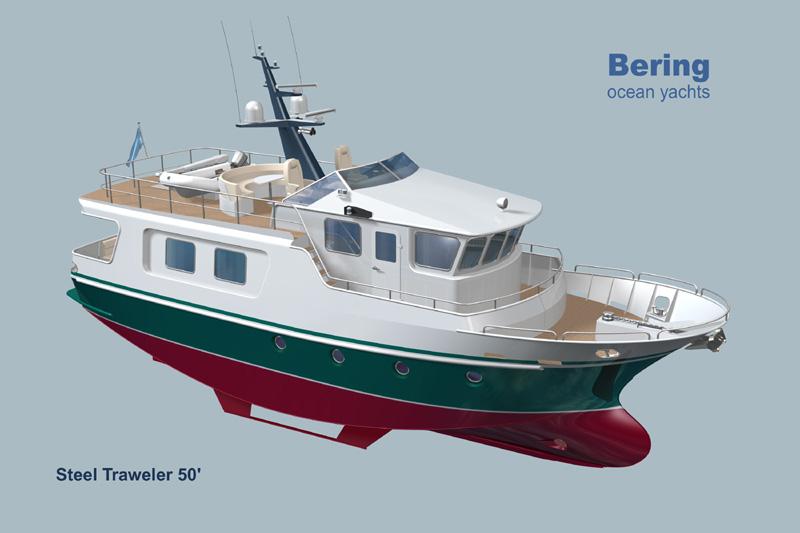 Trawler yacht bering boat design net for Garden design trawler boat